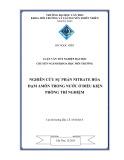 Luận văn tốt nghiệp: Nghiên cứu sự phản nitrate hóa đạm amôn trong nước ở điều kiện phòng thí nghiệm