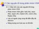 Bài giảng Chương 9: Các nguyên tố trong phân nhóm VIII