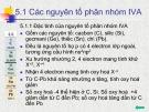 Bài giảng Chương 5: Các nguyên tố phân nhóm IV