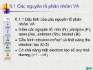 Bài giảng Chương 6: Các nguyên tố phân nhóm V