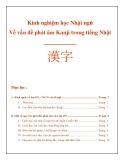Kinh nghiệm học Nhật ngữ: Về vấn đề phát âm Kanji trong tiếng Nhật