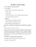 Đề cương ôn tập Sinh học (Có lời giải)