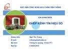 Bài giảng Ghép kênh tín hiệu số - Ngô Thu Trang