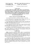 Quyết định số: 28/2013/QĐ-UBND thành phố Hà Nội