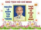 Bài thuyết trình Tư tưởng Hồ Chí Minh - Di sản vô giá của dân tộc