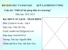 Bài giảng Luyện từ và câu lớp 4: Du lịch thám hiểm - Trần Thị Vân