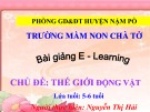 Bài giảng E-learning chủ đề: Thế giới động vật - Nguyễn Thị Hải
