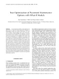 True Optimization of Pavement Maintenance Options with What-If Models