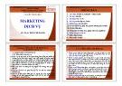 Bài giảng Marketing dịch vụ - ThS. Trần Phi Hoàng