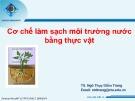 Bài giảng Cơ chế làm sạch môi trường nước bằng thực vật