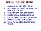 Bài giảng Thực hành tiện: Bài 10 – ĐH Sư Phạm Kỹ thuật TP. HCM