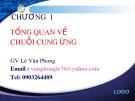 Bài giảng Quản lý chuỗi cung ứng: Chương 1 - Lê Văn Phong