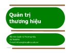 Bài giảng Quản trị thương hiệu (90tr)