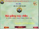 Bài giảng Máy điện - Nguyễn Thị Thu Hường