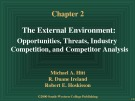 Bài giảng Chapter 12: The External Environment: Opportunities, Threats, Industry Competition, and Competitor Analysis
