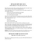 Đề thi môn: Kiến thức chung Ngạch kiểm soát viên thuế, chuyên viên