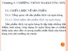 Bài giảng Chương 5: Chương trình Marketing Mix