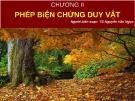 Bài giảng Những nguyên lý cơ bản của chủ nghĩa Mác-Lênin: Chương 2 (phần 1) - TS. Nguyễn Văn Ngọc