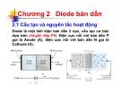 Bài giảng Kỹ thuật điện tử - Chương 2: Diode bán dẫn