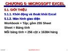 Bài giảng Tin học đại cương - Chương 5: Microsoft Excel