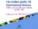 Bài giảng Tổng quan về tài chính quốc tế