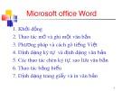Bài giảng Microsoft office Word