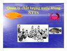 Bài giảng Quản lý chất lượng nước trong nuôi trồng thủy sản