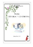 Bài giảng Tin học văn phòng - Trường ĐH công nghiệp Quảng Ninh
