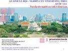 Hội thảo: An sinh xã hội - nghiên cứu tình huống theo quốc gia (Trợ cấp cho người cao tuổi ở Thái Lan)