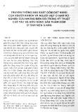Truyền thống sản xuất gốm đất nung của người Khmer và người Việt ở Nam Bộ: Nghiên cứu những biến đổi trong kỹ thuật chế tác và kiểu dáng sản phẩm gốm ở tỉnh Kiên Giang