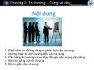 Bài giảng Chương 2: Thị trường - Cung và cầu