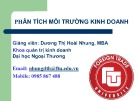 Bài giảng Phân tích môi trường kinh doanh: Bài 2(B) - Dương Thị Hoài Nhung