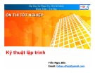 Bài giảng Ôn thi tốt nghiệp: Kỹ thuật lập trình - Trần Ngọc Bảo