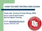 Bài giảng Phân tích môi trường kinh doanh: Bài 3 - Dương Thị Hoài Nhung