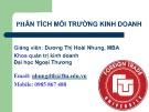 Bài giảng Phân tích môi trường kinh doanh: Bài 2(D) - Dương Thị Hoài Nhung