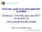 Bài giảng Khoa học, quản lý và công nghệ dịch vụ (SSME): Chương 3 - PGS.TS. Hà Quang Thụy