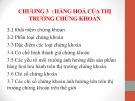Bài giảng Thị trường chứng khoán: Chương 3 - Đoàn Thị Thu Trang