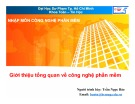 Bài giảng Nhập môn Công nghệ phần mềm: Giới thiệu tổng quan về Công nghệ phần mềm - TS. Trần Ngọc Bảo