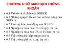 Bài giảng Thị trường chứng khoán: Chương 6 - Đoàn Thị Thu Trang