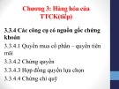 Bài giảng Thị trường chứng khoán: Chương 3 (tt) - Đoàn Thị Thu Trang