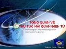 Bài giảng Tổng quan về thủ tục hải quan điện tử