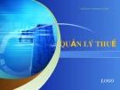 Bài giảng Quản lý thuế