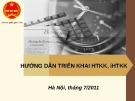 Bài giảng Hướng dẫn triển khai HTKK, iHTKK