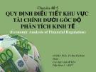 Bài thuyết trình: Quy định điều tiết khu vực tài chính dưới góc độ phân tích kinh tế