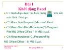 Bài giảng MS Excel: Bài 1 - Khởi động Excel