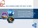 Bài giảng Kinh tế học vi mô - ThS Trần Thị Hòa