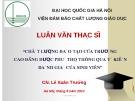 Luận văn Thạc sỹ: Chất lượng đào tạo của Trường Cao đẳng Dược Phú Thọ thông qua ý kiến đánh giá của sinh viên
