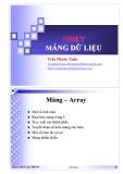Bài giảng Nhập môn lập trình: Mảng dữ liệu - Trần Phước Tuấn