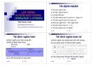 Bài giảng Lập trình hướng đối tượng: Operator và others - Trần Phước Tuấn