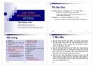 Bài giảng Lập trình hướng đối tượng: Kế thừa - Trần Phước Tuấn